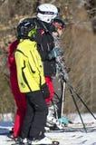 Учить кататься на лыжах Стоковое Изображение