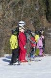 Учить кататься на лыжах Стоковое фото RF