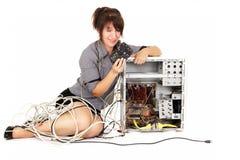Учить компьютера Стоковое Изображение RF