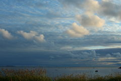 лучи заходящего солнца, живой природы северной Стоковые Изображения RF