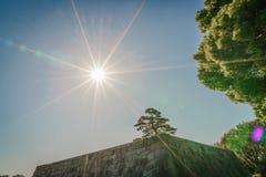 Учреждение башни замка замка Эдо-Джо, Японии Стоковая Фотография RF