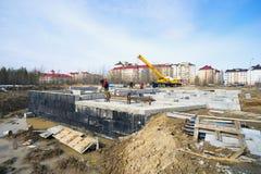 Учреждение нового жилого дома Стоковое Фото