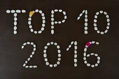10 лучших 2016 Стоковые Изображения