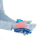 Ушиб запястья руки Стоковые Фотографии RF