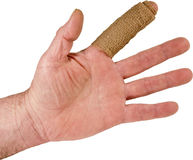 ушиб индекса руки перста изолировал стоковое фото rf