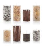 8 душили свечи изолированные на белой предпосылке с путем PS Стоковые Фото