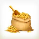 Уши и сумка пшеницы, иллюстрация вектора бесплатная иллюстрация