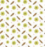 Уши картины вектора сбора пшеницы Rye безшовные предпосылки золотой природы солнцецвета красивой сельской иллюстрация вектора