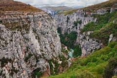 Ущелье Вердон, Провансаль, Франция: ландшафт каньона реки стоковые изображения rf