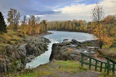 Ущелье в Moricetown в Британской Колумбии в Канаде Стоковые Фотографии RF