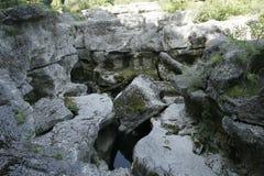 Ущелье реки Fier, каньон около Анси стоковые изображения