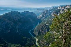 Ущелье du Verdon, Alpes-de-Haute-Провансаль стоковые изображения rf