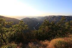 Ущелья Вердон на заходе солнца, каньон Verdon, Франция стоковые изображения rf