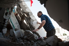Ущерб от войны Газа стоковые фотографии rf