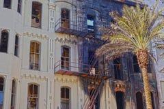 Ущерб от пожара здания Стоковые Изображения