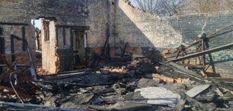 Ущерб от пожара Стоковые Изображения RF
