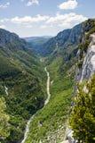 Ущелье Вердон в юговосточной Франции, Haut Провансаль, стоковое фото rf