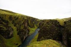Ущелье в Исландии Стоковое Изображение