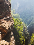 ущелье в wulong, Чунцине, фарфоре стоковая фотография