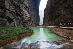 ущелье в wulong, Чунцине, фарфоре стоковое фото