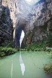ущелье в wulong, Чунцине, фарфоре стоковое изображение rf