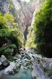 Ущелье в wulong, Чунцине, фарфоре стоковые изображения rf