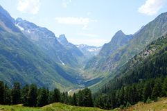 Ущелье горы, долина Стоковая Фотография