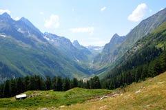 Ущелье горы, долина Стоковые Изображения