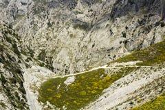 Ущелье забот реки в Астурии Стоковое фото RF