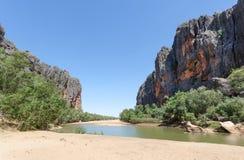 Ущелье западная Австралия Winjana стоковые фотографии rf