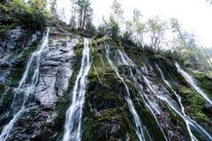 Ущелье на Wimbach в Bavarias Berchtesgaden Nationalpark Стоковые Фотографии RF