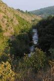 Ущелье реки горы Стоковое фото RF