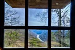 Ущелье реки Западной Вирджинии новое осмотрено от cente посетителя стоковое изображение rf