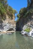 Ущелье реки Alcantara, Сицилия стоковые фото