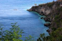Ущелье, утесы и океан Стоковая Фотография