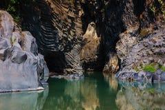 Ущелье Alcantara Стоковое Изображение