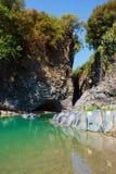 Ущелье Alcantara Стоковая Фотография RF