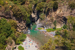 Ущелье Alcantara Стоковые Фото