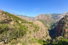 Ущелье de Spelunca стоковое фото rf