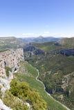 Ущелье du Verdon, Стоковая Фотография RF