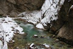 Ущелье Partnach в зимнем времени Garmisch-Partenkirchen Германия Стоковое Изображение RF