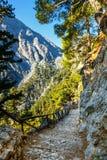 Ущелье Samaria, Греция Стоковое Изображение
