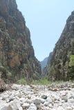 Ущелье Samaria, Крит Стоковые Фото