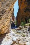 Ущелье Samaria на Крите Стоковая Фотография RF
