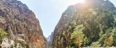Ущелье Samaria Стоковое Изображение RF