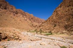 Ущелье Todra в Марокко Стоковое фото RF