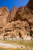 Ущелье Todra в Марокко Стоковое Изображение