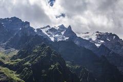 Ущелье Tseyskoe Горы Стоковое Изображение RF