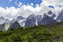 Ущелье Tseyskoe Горы Стоковые Изображения
