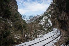 Ущелье Vouraikos, Пелопоннес, Греция Стоковые Фотографии RF